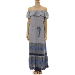 Clothing Women Long Dresses By La Vitrine Robe Longue Care  of you Bleu Blue