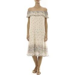 Clothing Women Short Dresses By La Vitrine Robe Beige Care of you Imprimée Fleurs F50134 Beige
