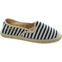 Shoes Women Espadrilles S.Oliver 5-24210-28 women's navy/nature striped slip on canvas espadrill Navy/Nature