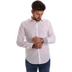 Clothing Men long-sleeved shirts Gas 151133 Shirt Man Bianco Bianco