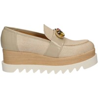Shoes Women Loafers Grace Shoes 9382 Mocassins Women Beige Beige