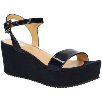 Shoes Women Sandals Grace Shoes 9826 Wedge sandals Women Blue Blue