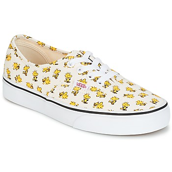Shoes Low top trainers Vans AUTHENTIC SNOOPY White / Yellow