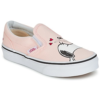 Shoes Girl Slip ons Vans TD CLASSIC SLIP-ON SNOOPY Black