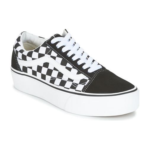 Shoes Women Low top trainers Vans UA OLD SKOOL PLATFORM Black / White
