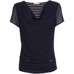 Clothing Women short-sleeved t-shirts Nero Giardini P761520D T-shirt Women Blue Blue