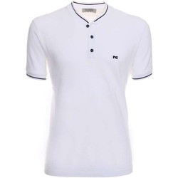 Clothing Men short-sleeved polo shirts Nero Giardini P771481U Polo Man White White