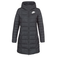 Clothing Women Duffel coats Nike DOWN FILL PARKA Black / White