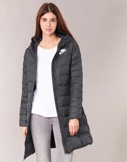 Clothing Women Duffel coats Nike DOWN FILL PARKA Black / White
