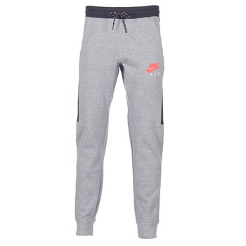Clothing Men Tracksuit bottoms Nike AIR JOGGER FLEECE Grey / Red