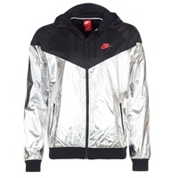 Clothing Men Macs Nike WINDRUNNER METALLIC Black / Silver