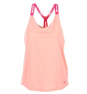 Clothing Women Tops / Sleeveless T-shirts Nike NIKE DRY TANK ELASTIKA Pink / Red
