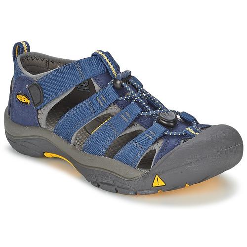 Shoes Boy Outdoor sandals Keen KIDS NEWPORT H2 Blue / Grey