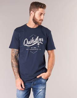 Clothing Men short-sleeved t-shirts Quiksilver CLATESEATALES Marine