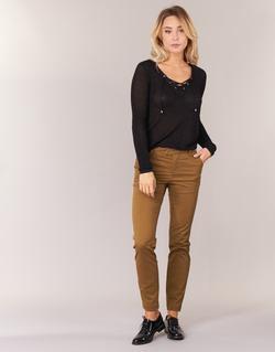 Clothing Women 5-pocket trousers Les P'tites Bombes CHINAI Cognac
