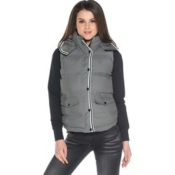 Clothing Women Duffel coats adidas Originals BF Vest Grey