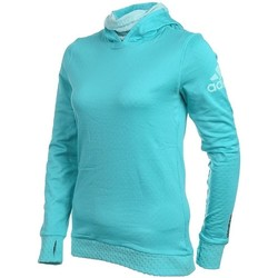 Clothing Women jumpers adidas Originals Z Kapturem Hoody Climaheat Turquoise