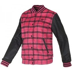 Clothing Women Jackets adidas Originals Tartn Wool Jack Black-Pink