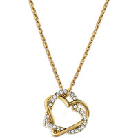 Watches Women Pendants Fashionvictime Pendant Heart For Women By - 18Ct Gold Plated Jewel- Crystal Transparent,