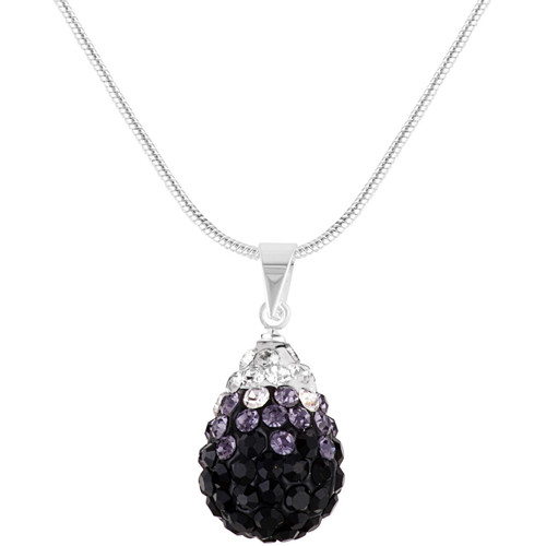Watches Women Necklaces Fashionvictime Pendant For Women By  - Silver-Plated-Rhodium Jewel- Crystals Fr Transparent,