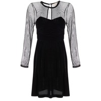 Clothing Women Short Dresses Derhy BERET Black