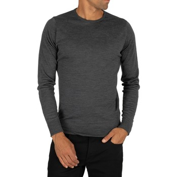 Clothing Men Jumpers John Smedley Marcus Crew Neck Knit grey