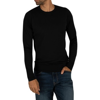 Clothing Men jumpers John Smedley Men's Crew Neck Knit, Black black