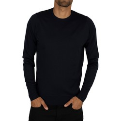 Clothing Men jumpers John Smedley Men's Marcus Crew Neck Knit, Blue blue