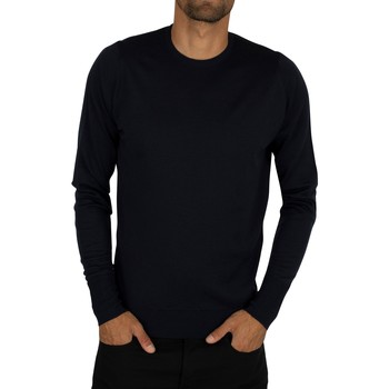 Clothing Men jumpers John Smedley Men's Crew Neck Knit, Blue blue