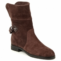 Shoes Women Mid boots Marc Jacobs CHAIN BOOTS Brown