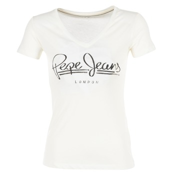 Clothing Women short-sleeved t-shirts Pepe jeans BRENDA White