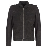 Clothing Men Leather jackets / Imitation leather Pepe jeans NARCISO Black