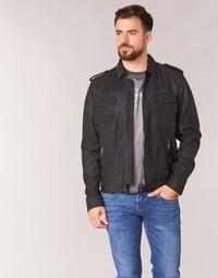Clothing Men Leather jackets / Imitation leather Pepe jeans NARCISO Black