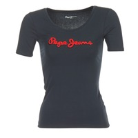 Clothing Women short-sleeved t-shirts Pepe jeans MARIA Black