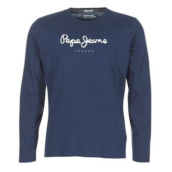 Clothing Men Long sleeved tee-shirts Pepe jeans EGGO LONG Marine