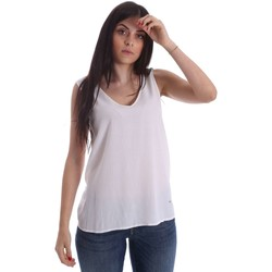 Clothing Women Tops / Sleeveless T-shirts Gaudi 73FD45231 Canotta Women White White