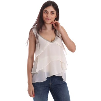 Clothing Women short-sleeved t-shirts Gaudi 73FD45243 Blusa Women White White
