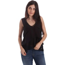 Clothing Women short-sleeved t-shirts Gaudi 73FD45243 Blusa Women Black Black