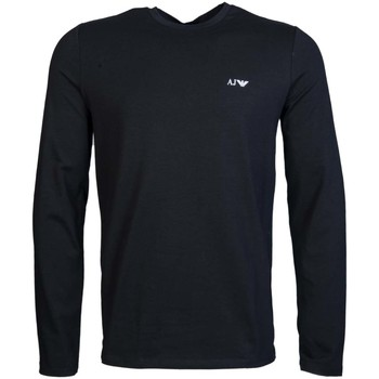 Clothing Men Long sleeved tee-shirts Armani Jeans Long Sleeve Top 8N6T81 6J0AZ black