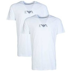 Clothing Men short-sleeved t-shirts Armani 2 Pack T-shirt 111267CC715 white