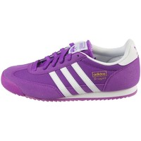 Shoes Children Low top trainers adidas Originals Dragon J White-Violet