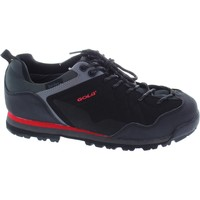 Shoes Men Low top trainers Gola active makay men's black lace up Dri-Tex waterproof walking tra Black/Grey/Red