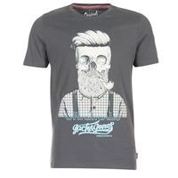 Clothing Men short-sleeved t-shirts Jack & Jones CRIPTIC ORIGINALS Grey