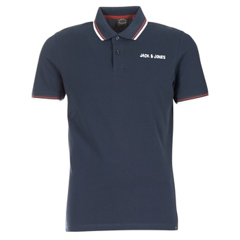 Clothing Men short-sleeved polo shirts Jack & Jones WAZ ORIGINALS Marine