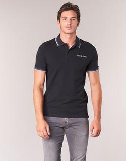 Clothing Men short-sleeved polo shirts Jack & Jones WAZ ORIGINALS Black