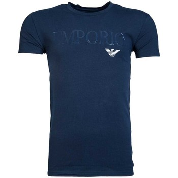 Clothing Men short-sleeved t-shirts Armani T-Shirt 111035 7P516 blue