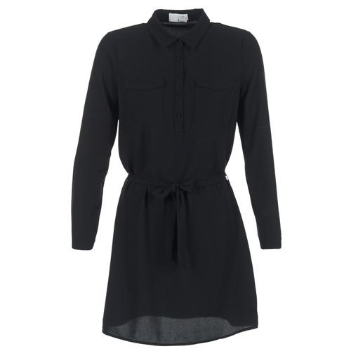 Clothing Women Short Dresses Casual Attitude HONIRE Black
