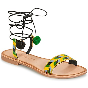 Shoes Women Sandals Lola Espeleta EDWINA Green / Yellow / Black