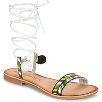 Shoes Women Sandals Lola Espeleta EDWINA Green / Silver