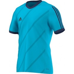 Clothing Men short-sleeved t-shirts adidas Originals Tabela 14 Climalite Blue